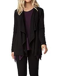 LNBF Women's Soft Bamboo Long Sleeve Drape Cardigan Sweater