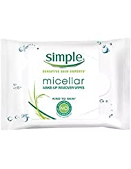 Simple Micellar Makeup Remover Wipes 25 Count (2 Pack)