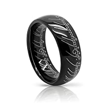 Atomic Jewelry Elvish *The One (Tungsten) Ring* Limited Special Edition Black