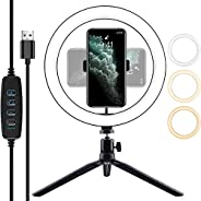 SEASKY Aro de Luz Led para Celular,Luz de Relleno,Tripie Anillo de Luz para,Fotografia | Videos,Ring Light 10.