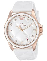 Juicy Couture Women's 1901102 Stella White Quilted Silicone Dial Watch