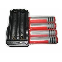 4pcs 18650 3000 mAh 3.7V Li-ion Rechargeable Battery+1pcs Charger