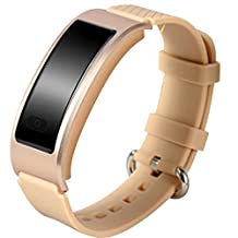 Efanr DF23 Smart Bracelet Watch Bluetooth Smartband Wristband IP68 Waterproof Smartwatch Wristwatch Pedometer Fitness Activity Tracker Heart Rate Monitor for iPhone IOS Android Smartphones (Gold)