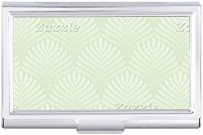 Classic foliage pattern in white and green Card Holder