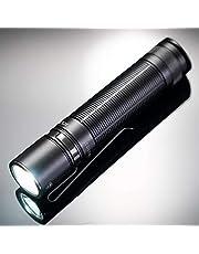 Klarus E2+, 1600 lumen, LED-zaklamp, 1600 lumen, max. bereik 190 m, IPX8, oplaadbare 18650-batterij met 3600 mAh, met externe lading micro-USB.