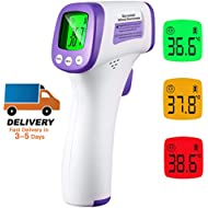 (US Stock) LCD Screen Digital Thermometer, Non-Contact Body Infrared Thermometer for Adults and Kids Digital Forehead, with 3 Function - Fever Alarm
