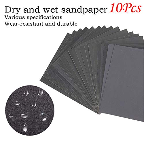 Pstars Sandpaper, 80 100 240 320 600 Grit Wet Dry