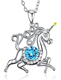 Unicorn Christmas December Birthstone Jewelry Gifts for...
