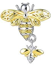 OutstandLong Gold Honeybee Mother Daughter Women's Jewelry Charms for Bracelets Dangle Beads for Women Girls