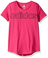 adidas Girls Short Sleeve Scoop Neck Tee T-Shirt