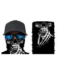 Happy Rocker Bandana Tube Face Mask Shield Smoking Skeleton Headband