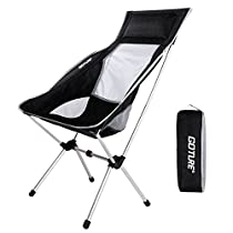 Goture Portable Folding Chair Super Lightweight High Back with Carry Bag for Backpacking, Fishing, Camping, Tailgating,Hiking ,Sports ,outdoor Activities (Hold up to 330 lbs)