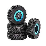 TOYANDONA 4 unids 1.9 Pulgadas Piezas Modelo Neumáticos Neumáticos Neumáticos neumáticos para 1/10 Rastreado RC 4WD Coche de Control Remoto Coche Grande Subida