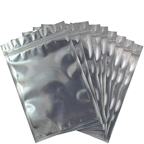 Smell Proof Bags (50 Pack) Resealable Mylar Aluminum Packaging Storage Bag 6 x 9 inch