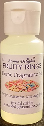 Aroma Scent (Fruity Rings Scented Oil by Aroma Delights - 1 Ounce Bottle)