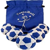 Tossaball Phat Tyre Pro 90 - 5 Pack With Logo Pouch Blue/White