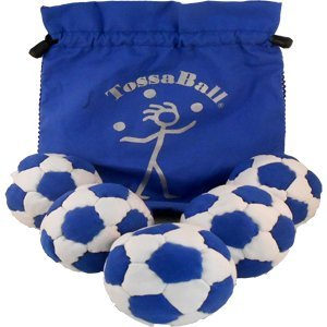 Tossaball Phat Tyre Pro 70 Juggle Ball 5 Pack With Pouch From Flying Clipper by Tossaball (Image #1)