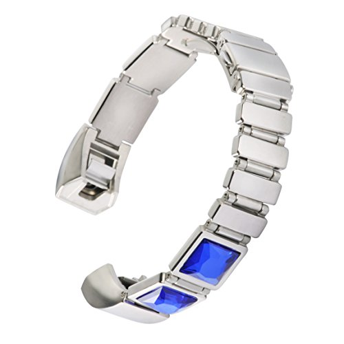 For Fitbit Alta Bands/Fitbit Alta HR Band, Wearlizer Alta Replacement Bands Rhinestone Design for fitbit Alta Fitness Tracker