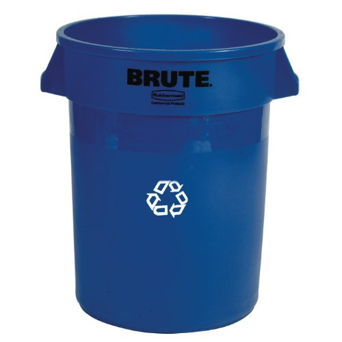Rubbermaid Blue Brute Recycling Container, 44 Gallon