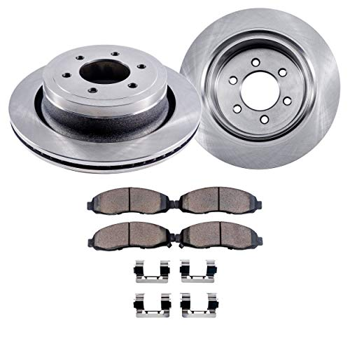 Brake Disc Rear Right (Detroit Axle - Pair (2) Rear Disc Brake Rotors w/Ceramic Pads w/Hardware for 2003 2004 2005 2006 Ford Expedition/Lincoln Navigator)