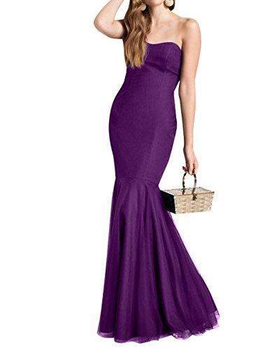 mia Abendkleider Meerjungfrau Lang Damen Einfach Brautjungfernkleider La Ballkleider Partykleider Brau Traube Etuikleider gxdqAIZ