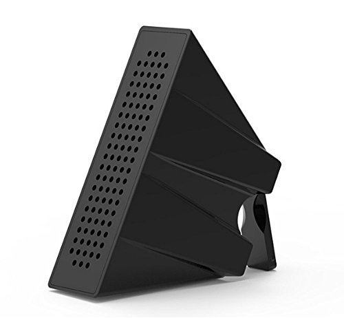 Portable Cell Phones Stand Dock Sound Amplifier Passive Loud Amp Speaker for iPhone, Samsung and More (Black LCS-ZJ-03)