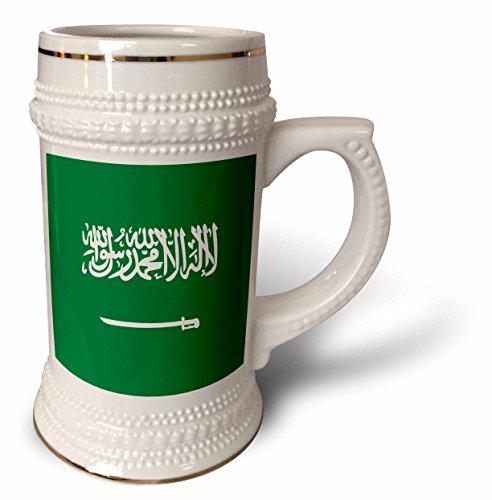 InspirationzStore Flags - Flag of Saudi Arabia - Arabian world - Green with white Arabic text and sword - Islamic shahada - 22oz Stein Mug (stn_158422_1) by 3dRose