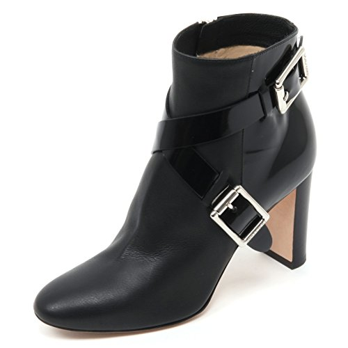 B7048 tronchetto donna JIMMY CHOO DEE 85 scarpa nero shoe boot woman Nero