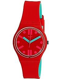 Swatch Men's Rossofino GR170 Red Rubber Swiss Quartz Fashion Watch