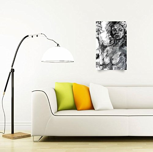 Wall Art Print entitled The Lady Of The Swamp - In Grayscale by Ginette Callaway