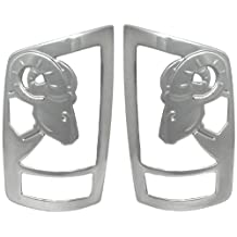 AMI V27704C Sportsman Chrome Tail Light Cover with Big Horns 3D Design