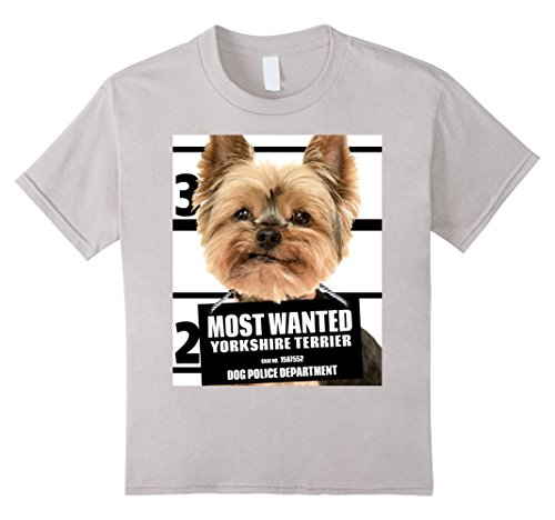 Kids Most Wanted Yorkshire Terrier T-shirt - Yorkie Dog Tee - B 8 (Yorkie Dog T-shirt)
