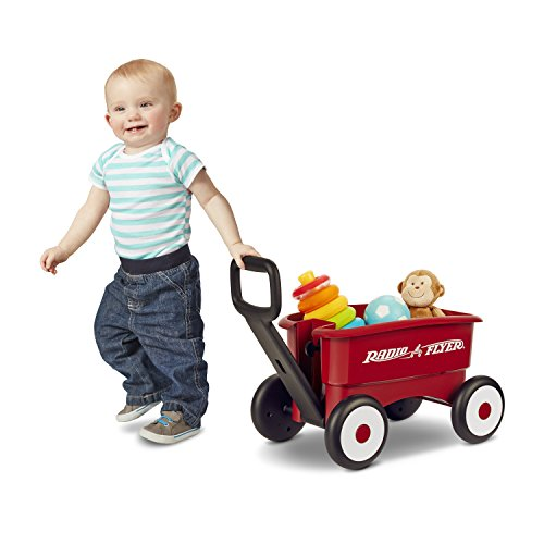 410 0zo28tL - Radio Flyer My 1st 2-in-1 Wagon, Red