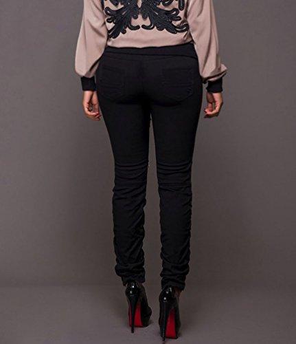 lgante lgant Taille Skinny Pantalons Crayon Dcontracte Dooxi Grande Noir Femme Pantalon 5XwUxnTq