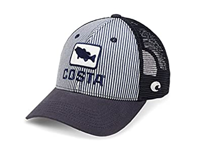 Costa Del Mar XL Fit Bass Hickory Striped Trucker Hat