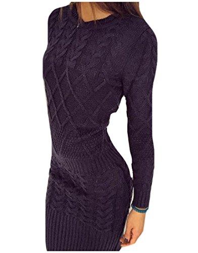 Creative Long Womens Bodycon Coolred Dress Knitted Stretch Mini As1 Sleeve Ya5nwOq