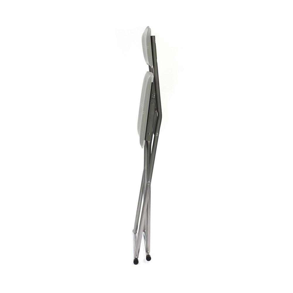 marr/ón /Silla Plegable Metal//PU THE HOME DECO FACTORY/ 40,70x51x84 cm