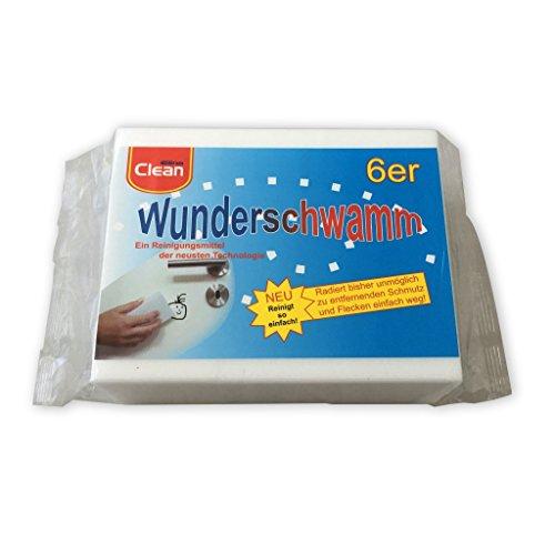 6 stuks verpakking wonderspons, vuilgum, poetsspons, gumspons 12 x 5 x 2,5 cm