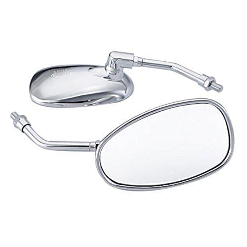 Mirrors Universal Chrome Motorcycle Motorbike Mirrors for Honda Suzuki Kawasaki 10mm R SODIAL
