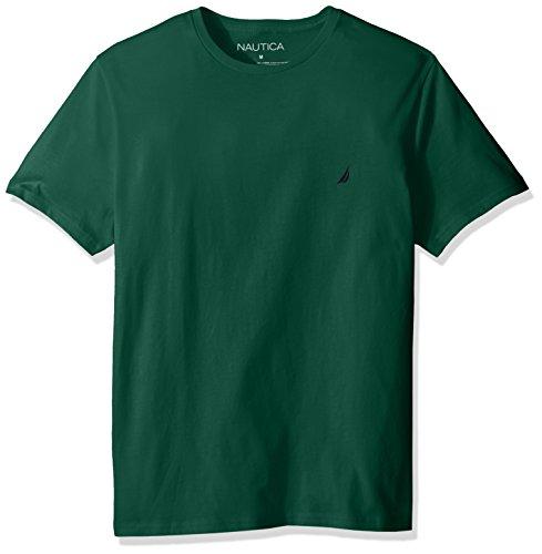 Nautica Men's Short Sleeve Solid Crew Neck T-Shirt, Tidal Green, Small (Men Dress Shirt Nautica)