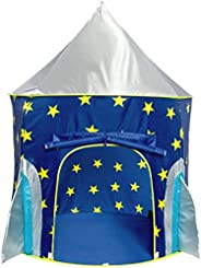 USA Toyz Play Tent for Boys or Girls – Rocket Ship Kids Tent, Astronaut Space Tents w/ Projector Toy, Outdoor Indoor Spacesh