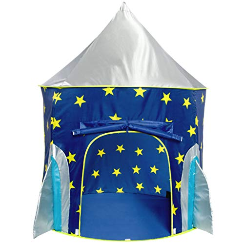 USA Toyz Play Tent for Boys or Girls - Rocket Ship Kids Tent, Astronaut Space Tents w/ Projector Toy, Outdoor Indoor Spaceship Play Tent for Kids or Toddlers
