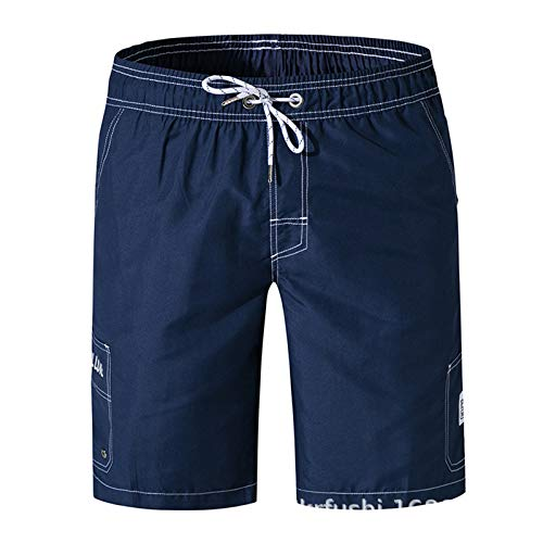 Men's Swim Trunks Quick Dry Board Shorts Cargo Pockets Solid Bathing Shorts Mesh Lining for Swimming Surfing