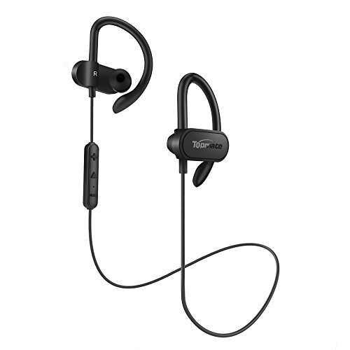Topmate Bluetooth Earphones Wireless Earbuds | IPX5 Waterproof w/Mic Headphones HD Stereo Sports Headsets | Long Playtime Up to 10 Hours Running