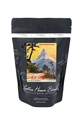 Switzerland - Paris ? Lyon et ? la M?diterran?e Railway Promo of the Alps, the Matterhorn (8oz Whole Bean Small Batch Artisan Coffee - Bold & Strong Medium Dark Roast w/ (Lyon Framed)