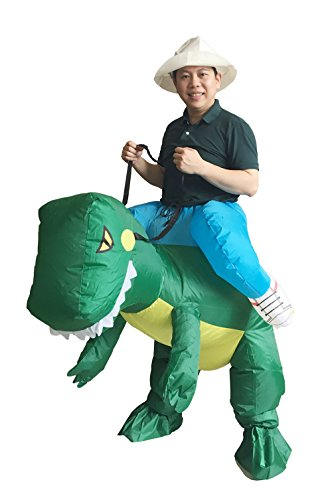 [Inflatable Costume Dinosaur T-REX Adult Fancy Dress] (2 Person Halloween Costumes For Kids)