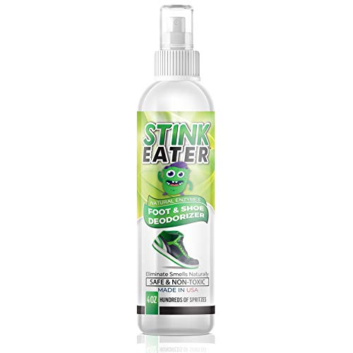 Stink Eater Natural Enzyme Shoe Deodorizer Spray, Foot Odor Eliminator & Freshener | Wipe Out the Cause Of Smells At Their Source
