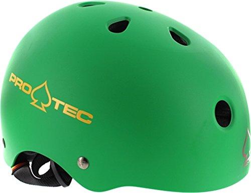 (ProTec Classic CPSC Rubber Rasta Green Skate Helmet - (Certified) - Medium / 22
