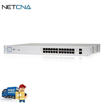 UniFi Managed PoE+ Gigabit 24 Port Switch with SFP (500W) and Free 6 Feet Netcna HDMI Cable - By NETCNA