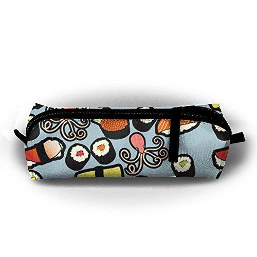 (TY1WC Sweet Shrimp Sushi Pencil Case Zipper Pen Pouch Printing Student Small Pen Bag)